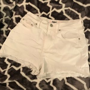VS PINK White Denim Shorts